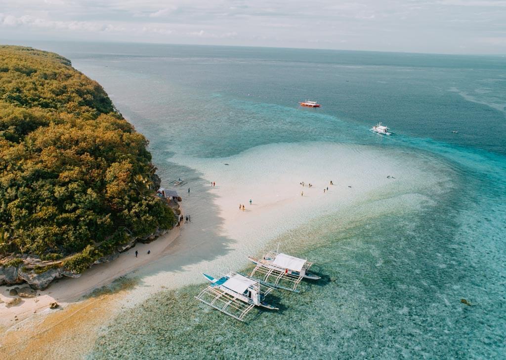 Sumilon Island Drone Shot